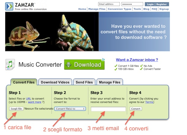 convertitore mp3 online